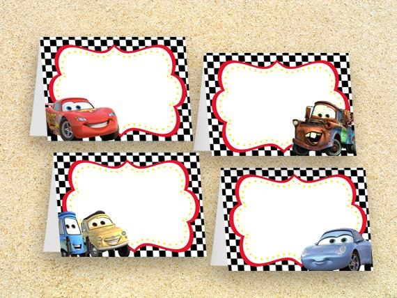 Cars Party Food Labels Instant Downloadcars Birthday Cars
