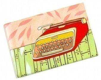 Writer gift - Retro Typewriter magnet - Office Decor, book lover gift, gifts for writers, writer desk decor, writer gift, coworker gift