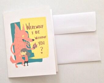 Werewolf Love Card