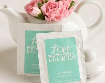 Personalized Wedding Tea Bag Favors