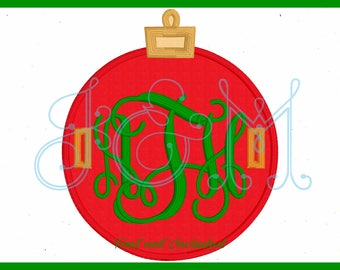 Ornament Button On Tab Machine Embroidery Design