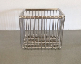 vintage wire metal basket industrial home decor laboratory