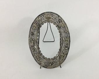 Antique filigree picture frame