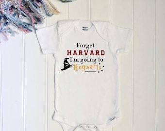 Harvard or Hogwarts ONESIE® //New baby ONESIE® // Harry Potter Onesie® // Baby Shower Gift // Funny Baby Gift // Harry Potter baby