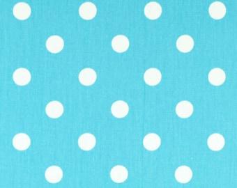 Premier Prints Polka Dot in Girly Blue Aqua Twill Home Decor fabric, 1 yard