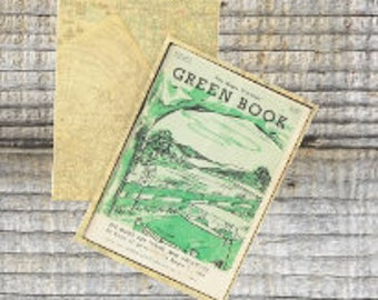 Writing journal, notebook, bullet journal, diary, sketchbook, blank - The Negro Motorist Green Book  -- Journal / Sketchbook