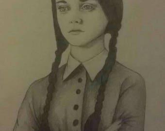Wednesday Addams fine art print