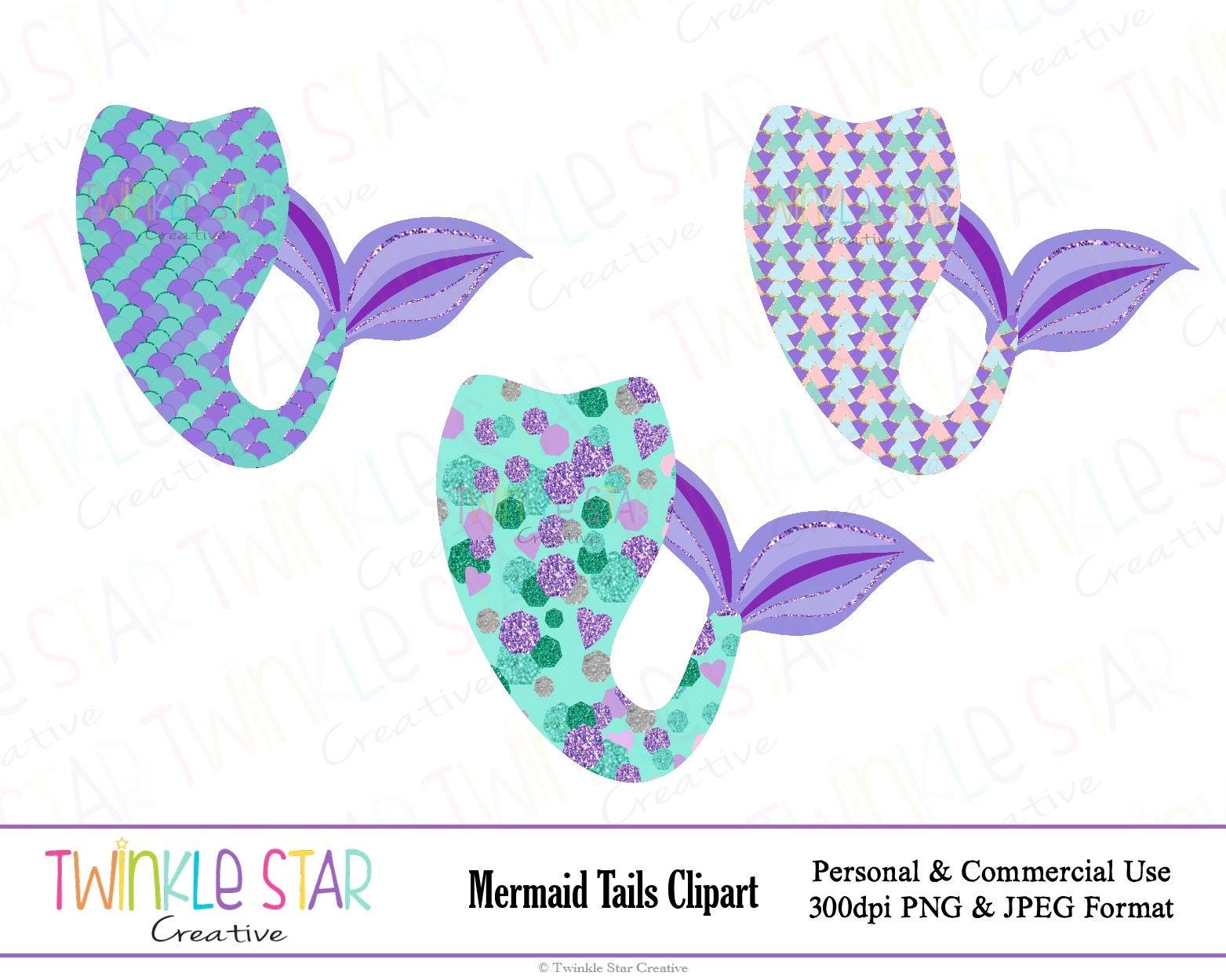instant download mermaid tail clipart mermaid digital clip