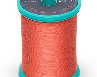 Cotton + Steel Thread by Sulky - 100% Cotton 50 wt - Coral
