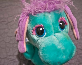 1984 Moosel Wuzzle - Vintage stuffed animal - 80s Hasbro Softies Toy - Bradley Walt Disney