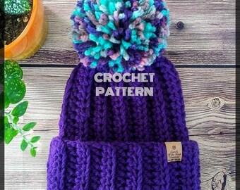 Crochet Beanie Pattern, Crochet Slouchy Pattern, Crochet Hat Pattern,  Beanie Pattern, Slouchy Hat Pattern