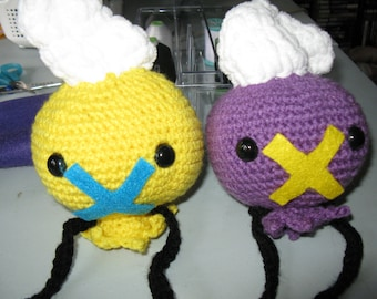 Drifloon or Shiny Drifloon Pokemon Plush amigurumi.
