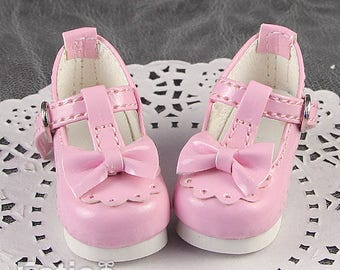 Fatiao - New Dollfie Yo-SD 1/6 BJD Doll High Heeled Shoes - Pink (Size 4.5cm)