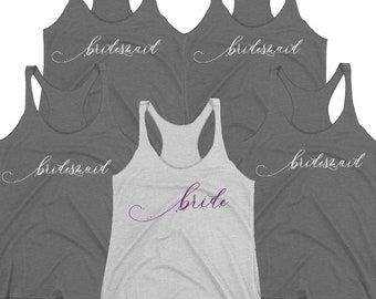 Bachelorette Party Tanks. Bride Tank Top Sets. Bridesmaid Tanks. Maid Of Honor Shirt. Matron Of Honor Tanks. Bridal Shower Party. Bride.