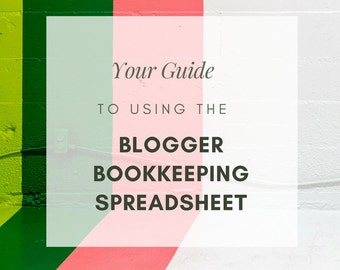 Blogger Bookkeeping Spreadsheet