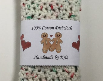 Gingerbread Men Dishcloth/Washcloth Labels - PDF File Only