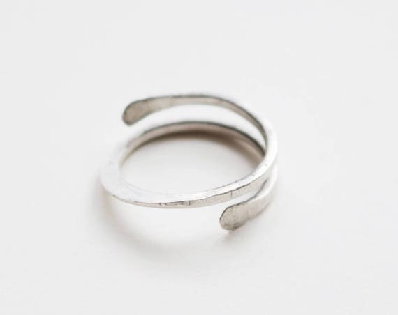 Adjustable Silver Forged Wire Rings