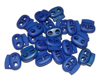 Dark Blue Paracord Cord Locks - Double Hole Cord Lock - Parachute Cord Accessories Two 5mm holes