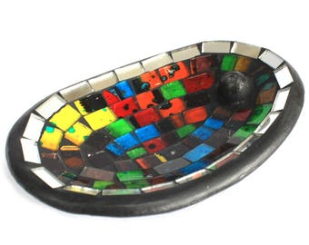 Moroccan Mosaic Oval Incense Holder