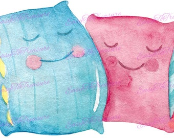 Digital Download Clipart – Sleepytime Pillows JPEG and PNG files