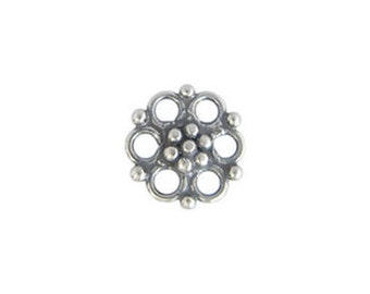 Handmade Bali Oxidized Sterling Silver Chandelier Connector - 2 pcs.