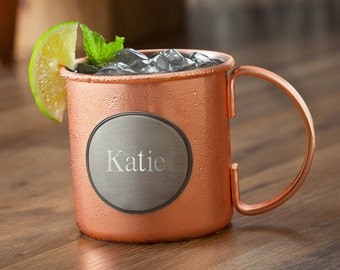 Personalized Moscow Mule Copper Mug - Personalized Moscow Mule Cup - Gifts for Her - Moscow Mule - Bridesmaids Gifts - GC1302 PLAIN
