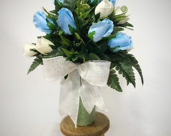 Cemetery flowers, Grave Decoration, Cemetery Vase Flowers, Grave Flowers, Cemetery Decoration, Flowers for Cemeteries