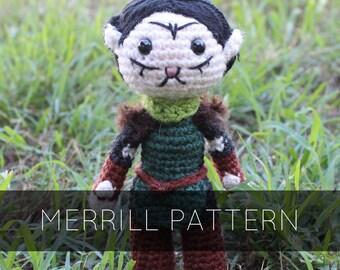 Merrill Amigurumi Crochet Plush Doll Pattern