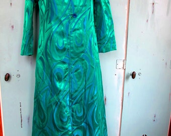 Beautiful Vintage Shimmery Duster Jacket with Peter Pan Collar 1940's 1950's Holiday Party Show Stopper