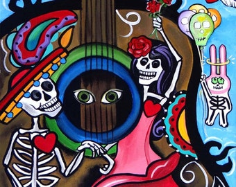 Rise to the Occassion, Day of the Dead Art by Melody Smith