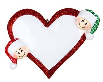 Personalized Twins First Christmas  Ornament- Couple's First Christmas, grandkids,friends co-workers
