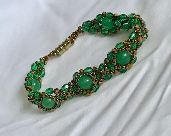 Bracelet & Earrings Marvelous green A6