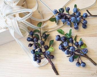 Blueberries (FD0002-01) | artificial flower – flower headpiece – wedding décor – hair crown – wedding crown – decoration – wreath – bride
