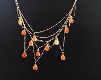 Carnelian Asymmetrical necklace