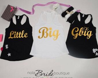 Big Little GBig GGBig Sorority tanks, sorority tank, Little Big, Greek shirt, Little sister, Big Sister, Big and Little shirts d59