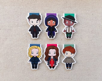 Magnetic Bookmarks - Six Outcasts