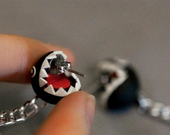 Chain Chomp Earrings Mario