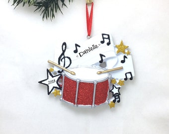Drums Personalized Christmas Ornament / Snare Drum Ornament / Drum Set / Marching Band / Orchestra / Percussion Christmas Ornament