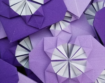 Origami Blossoming Hearts