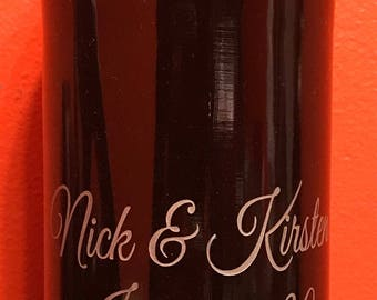 Personalized Etched Wine Bottle