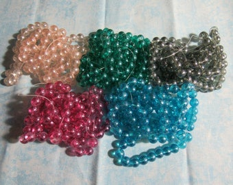 8mm Transparent Spray Painted Glass Bead Strand (B79)
