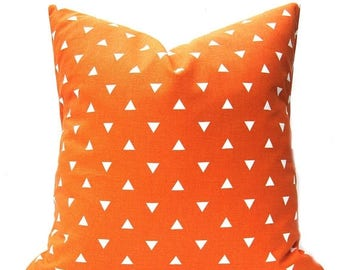 15% Off Sale Orange Pillow, Orange Pillow Cover, Decorative Pillow, Throw Pillow cover, Accent Pillow, Toss Pillow, Orange Pillows, Accent P