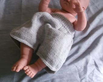Knit baby bloomers