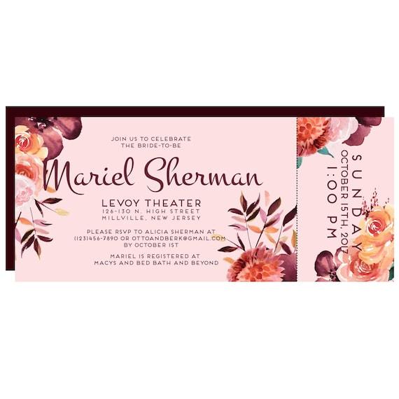 Levoy Theatre Bridal Shower Invitation