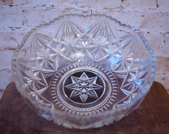 Stunning Pressed Glass Serving Bowl