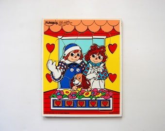 Raggedy Ann and Andy Puzzle, Vintage PlaySkool Puzzle