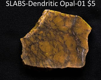 Rock Slab Dendritic Common Opal from Turkey