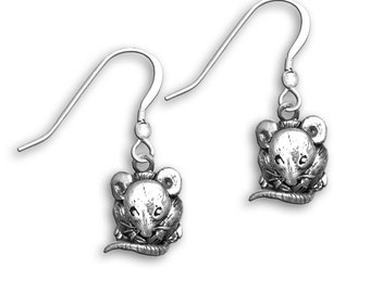 Sterling Silver Mouse Earrings