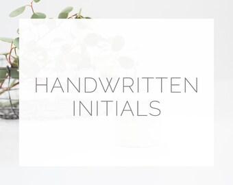 Handwritten Initials