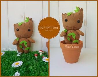 PDF PATTERN. Baby Groot PDF Felt Pattern